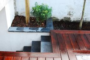 escalier bois exotique