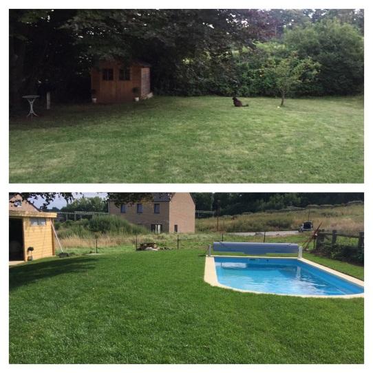 Avant et après piscine RELAX 700 MDP