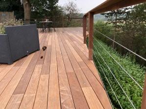 Plancher de terrasse, bois exotique
